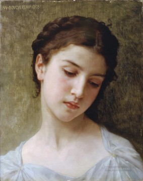 Etude Tete de Jeune fille Realism William Adolphe Bouguereau Oil Paintings