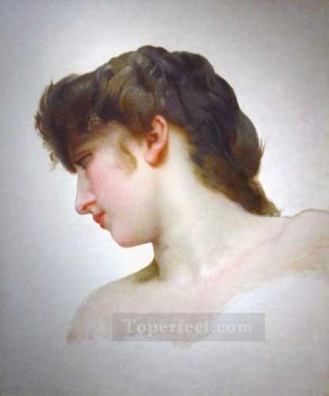 EtudedetetedeFemmeBlondeprofil 1898 Realism William Adolphe Bouguereau Oil Paintings