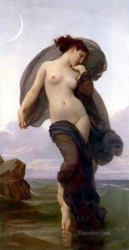 William Adolphe Bouguereau Painting - Evening Mood Realism William Adolphe Bouguereau