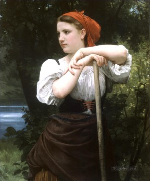 William Adolphe Bouguereau Painting - Faneuse Realism William Adolphe Bouguereau