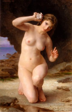 FemmeAuCoquillage 1885 William Adolphe Bouguereau Oil Paintings