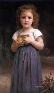 Jeune Fille et Enfant Realism William Adolphe Bouguereau Oil Paintings