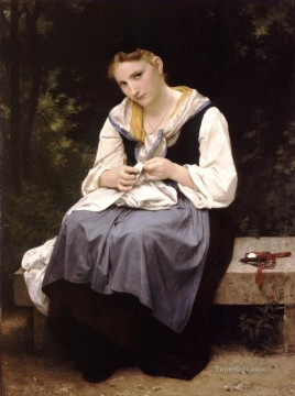 Jeune ouvriere Realism William Adolphe Bouguereau Oil Paintings