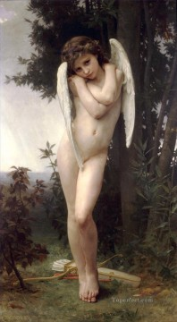 LAmour mouille Realism angel William Adolphe Bouguereau Oil Paintings
