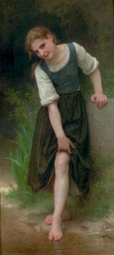 William Adolphe Bouguereau Painting - La Gue Realism William Adolphe Bouguereau
