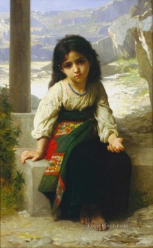 William Adolphe Bouguereau Painting - La Petite Mendiante Realism William Adolphe Bouguereau