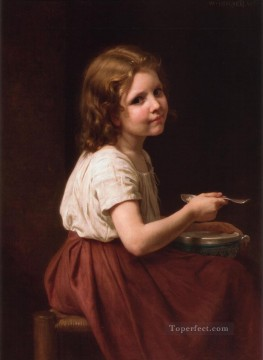 William Adolphe Bouguereau Painting - La Soupe Realism William Adolphe Bouguereau