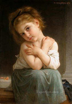 La frileuse Chilly girl 1879 Realism William Adolphe Bouguereau Oil Paintings