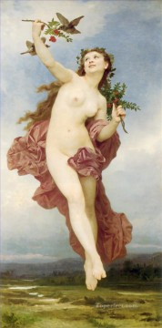 William Adolphe Bouguereau Painting - Le Jour William Adolphe Bouguereau
