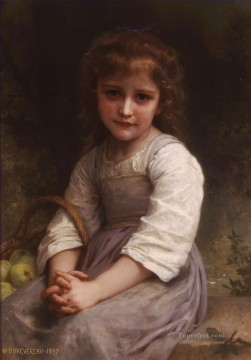 William Adolphe Bouguereau Painting - Les pommes Realism William Adolphe Bouguereau