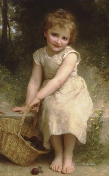 William Adolphe Bouguereau Painting - Les prunes Realism William Adolphe Bouguereau