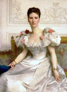 William Adolphe Bouguereau Painting - Madame la Comtesse de Cambaceres Realism William Adolphe Bouguereau