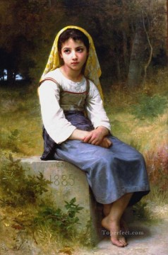 Meditation 1885 Realism William Adolphe Bouguereau Oil Paintings