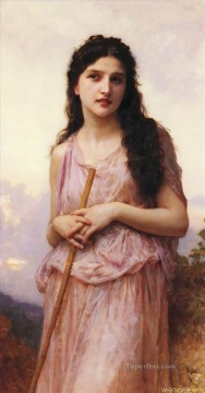 Meditation Realism William Adolphe Bouguereau Oil Paintings