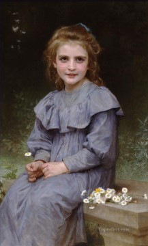 Paquerettes Realism William Adolphe Bouguereau Oil Paintings