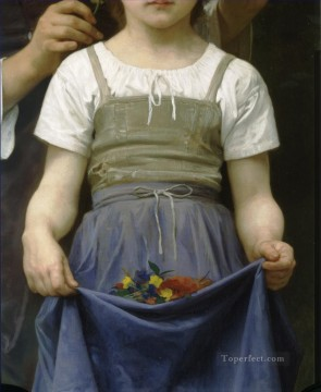 William Adolphe Bouguereau Painting - Parure des champs bt right Realism William Adolphe Bouguereau