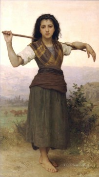 Pastourelle Realism William Adolphe Bouguereau Oil Paintings