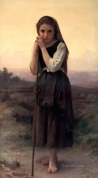 William Adolphe Bouguereau Painting - Petite bergere Realism William Adolphe Bouguereau