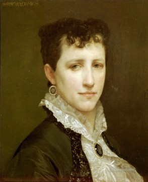 Made Oil Painting - Portrait de Mademoiselle Elizabeth Gardner Realism William Adolphe Bouguereau