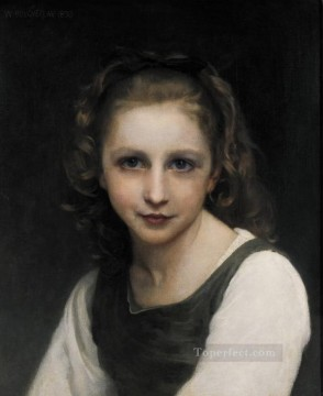 Portrait of a Young Girl Realism William Adolphe Bouguereau Oil Paintings