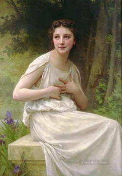 Reflexion Realism William Adolphe Bouguereau Oil Paintings