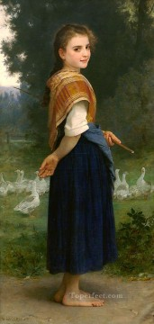 William Adolphe Bouguereau Painting - The Goose Girl 1891 Realism William Adolphe Bouguereau