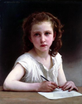 Une Vocation Realism William Adolphe Bouguereau Oil Paintings