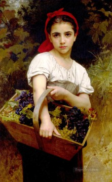 William Adolphe Bouguereau Painting - Vendangeuse Realism William Adolphe Bouguereau