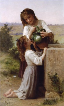 William Adolphe Bouguereau Painting - A la fontaine Realism William Adolphe Bouguereau