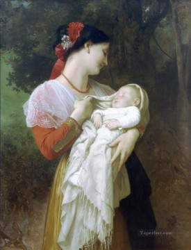 Admiration Maternelle Realism William Adolphe Bouguereau Oil Paintings