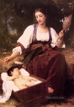 Berceuse Realism William Adolphe Bouguereau Oil Paintings