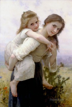 Fardeau agreable Realism William Adolphe Bouguereau Oil Paintings
