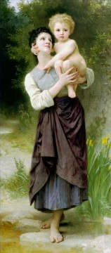 William Adolphe Bouguereau Painting - Frere et Soeur Realism William Adolphe Bouguereau