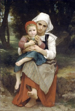 William Adolphe Bouguereau Painting - Frere et soeur bretons Realism William Adolphe Bouguereau
