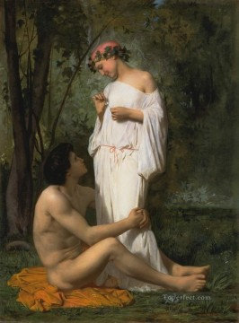 William Adolphe Bouguereau Painting - Idylle 1851 William Adolphe Bouguereau