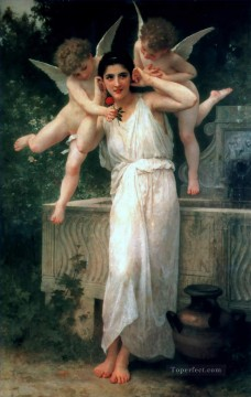 William Adolphe Bouguereau Painting - Jeunesse Realism angel William Adolphe Bouguereau