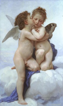 LAmour et Psyche enfants angel William Adolphe Bouguereau Oil Paintings