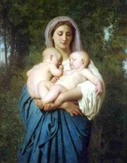 William Adolphe Bouguereau Painting - La Charite 1859 Realism William Adolphe Bouguereau