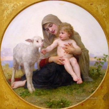 La Vierge a Lagneau Realism William Adolphe Bouguereau Oil Paintings