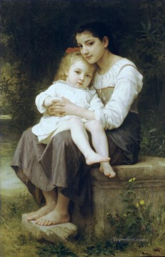 La soeur ainee Realism William Adolphe Bouguereau Oil Paintings