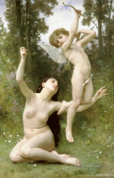 William Adolphe Bouguereau Painting - Lamour senvole William Adolphe Bouguereau