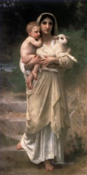 William Adolphe Bouguereau Painting - Le Jeune Bergere 1897 Realism William Adolphe Bouguereau