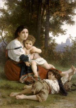 William Adolphe Bouguereau Painting - Le repos Realism William Adolphe Bouguereau