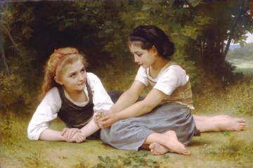 Les noisettes Realism William Adolphe Bouguereau Oil Paintings