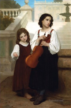 Loin du pays Realism William Adolphe Bouguereau Oil Paintings