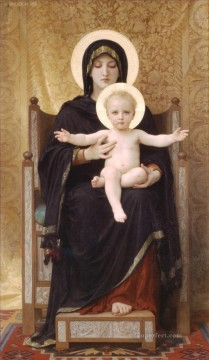Madone assise Realism William Adolphe Bouguereau Oil Paintings