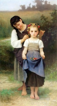 William Adolphe Bouguereau Painting - Parure des champs Realism William Adolphe Bouguereau