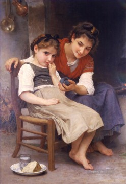 William Adolphe Bouguereau Painting - Petite boudeuse Realism William Adolphe Bouguereau