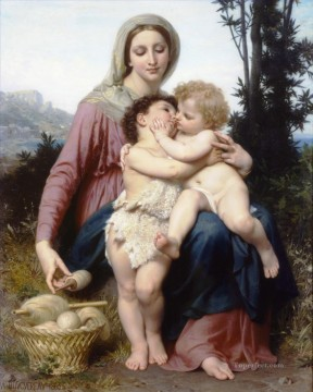 Sainte Painting - Sainte Famille Realism William Adolphe Bouguereau