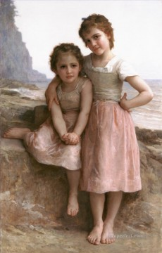 William Adolphe Bouguereau Painting - Sur la greve Realism William Adolphe Bouguereau